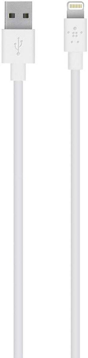 Belkin iPad/iPhone/iPod Datakabel/Laadkabel [1x Apple dock-stekker Lightning - 1x USB 2.0 stekker A] 2.00 m