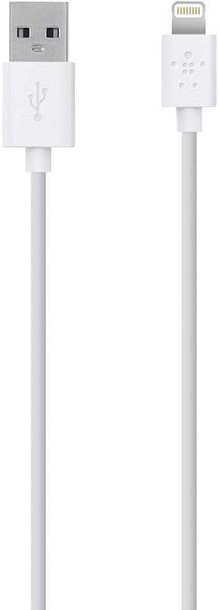 Belkin iPad/iPhone/iPod Datakabel/Laadkabel [1x Apple dock-stekker Lightning - 1x USB 2.0 stekker A] 3.00 m