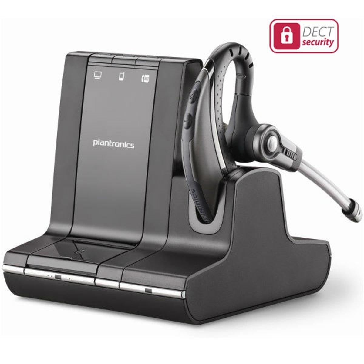 Plantronics Savi W730 Telefoonheadset DECT Draadloos, Mono In Ear Zwart, Zilver