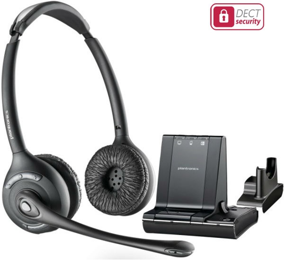 Plantronics Savi W720 Telefoonheadset DECT Draadloos, Stereo On Ear Zwart