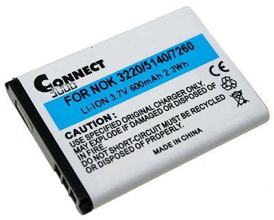 Connect 3000 Li-ion GSM-accu 650 mAh voor (aanduiding originele accu: )