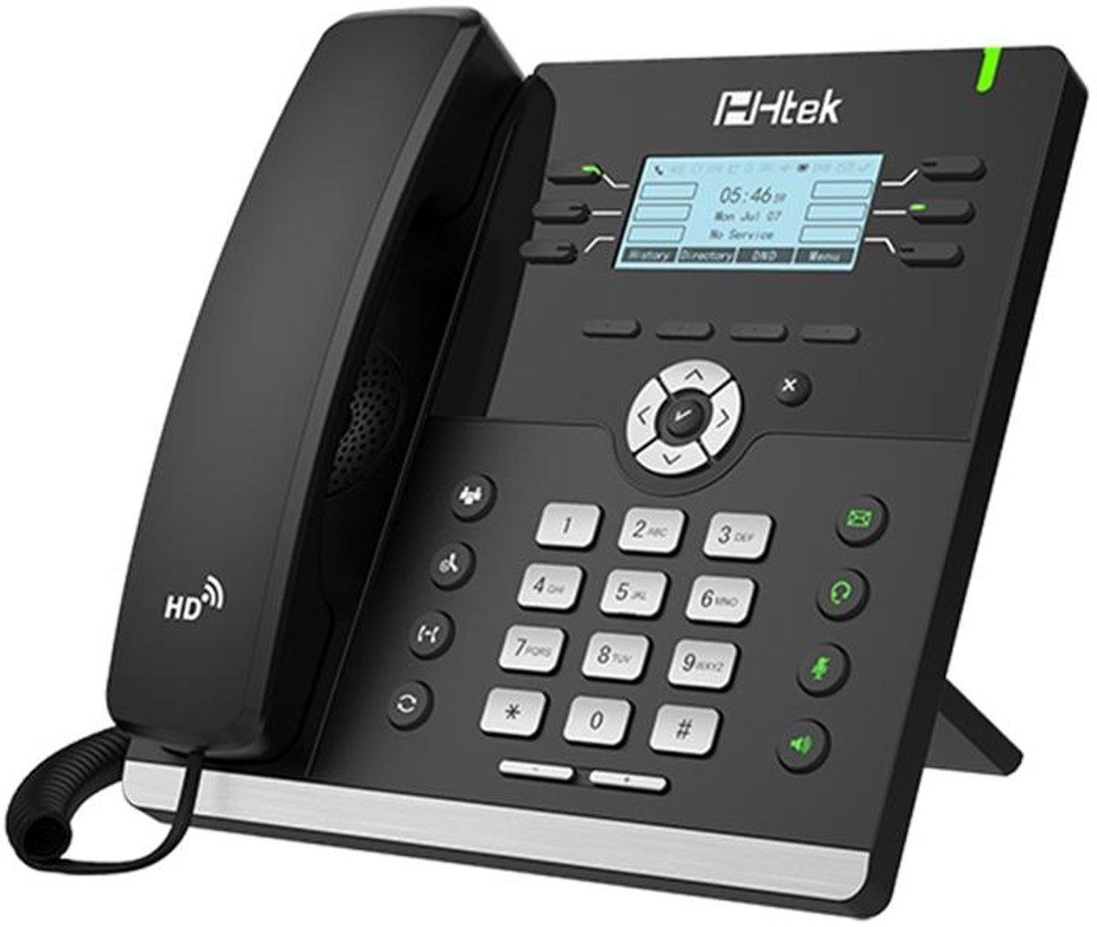 TipTel Htek UC902 Bedrade VoIP telefoon Zwart