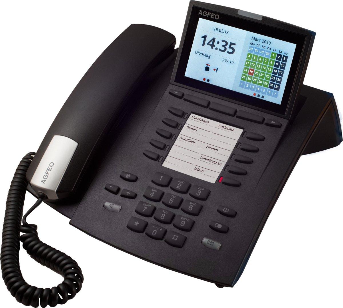 AGFEO ST45 IP - VoIP telefoon - Zwart