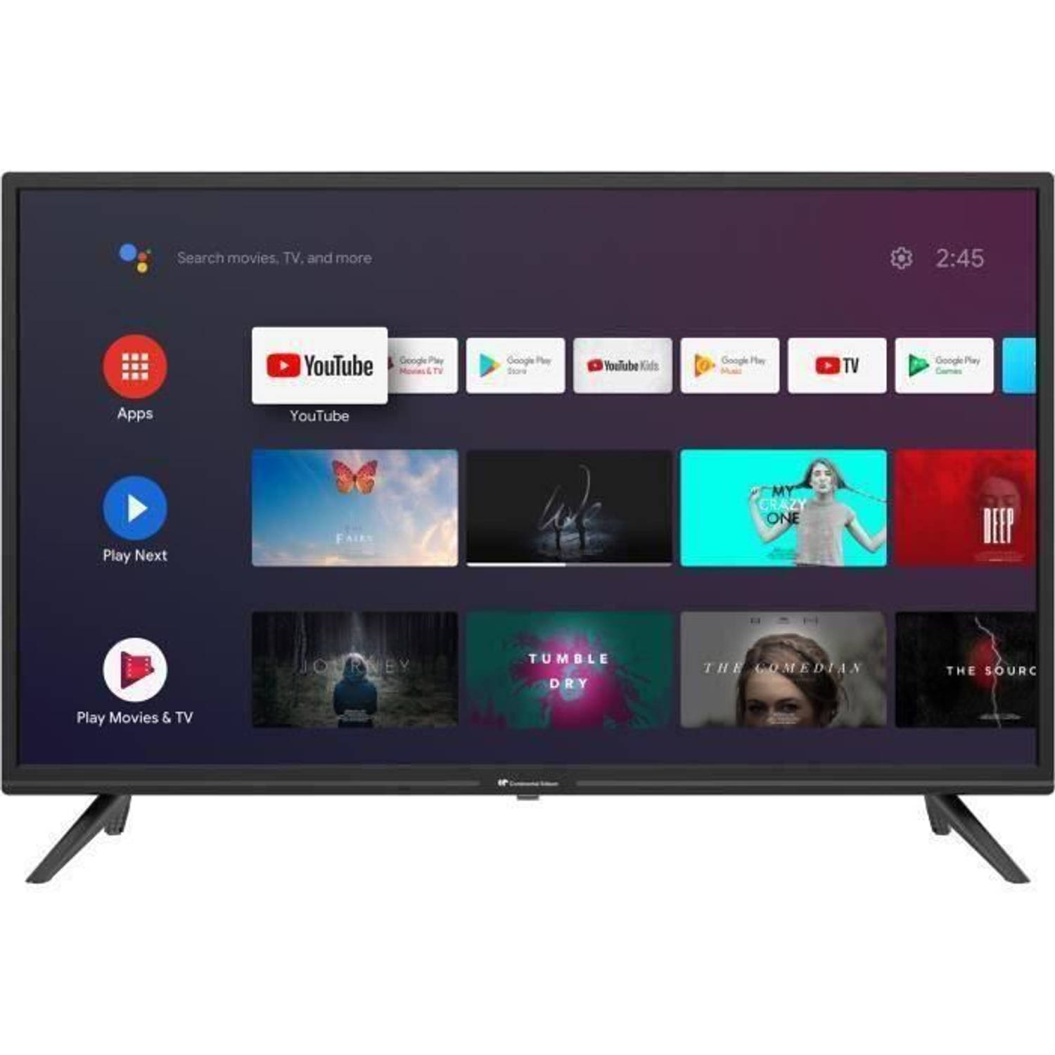 Continental Edison Android Hd Led Tv - 32 (80 Cm) - Wifi - Bluetooth - Hdmix3 - Usbx2 - Spraakbesturing