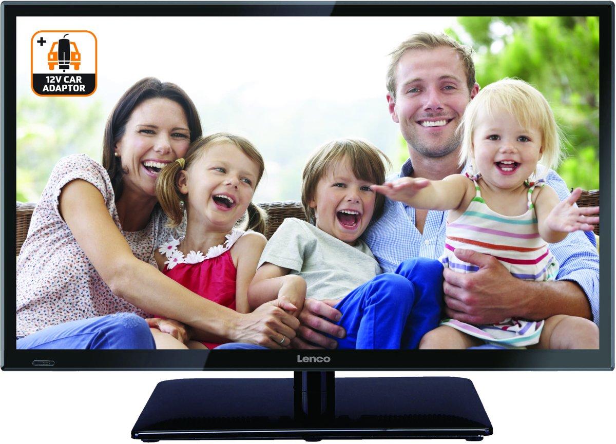 Lenco LED-2422 - Televisie Full HD LED inclusief auto adapter en DVB - 24 inch - Zwart