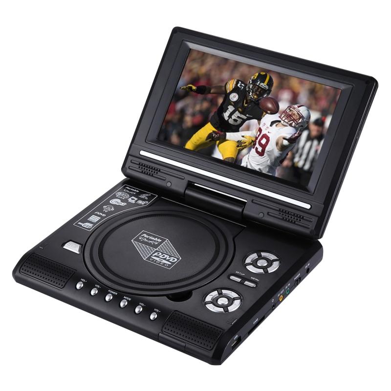 7.5 inch TFT LCD scherm Portable DVD met TV Player ondersteuning voor SD / MMC-kaart / spel functie / USB Port(Black)