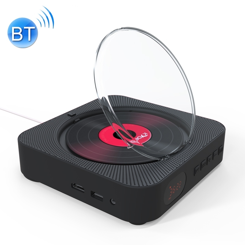 KC-606 Wandmodellen Bluetooth 4.2 + EDR-DVD-speler met Remote Control afstandsbediening ondersteuning FM(Black)