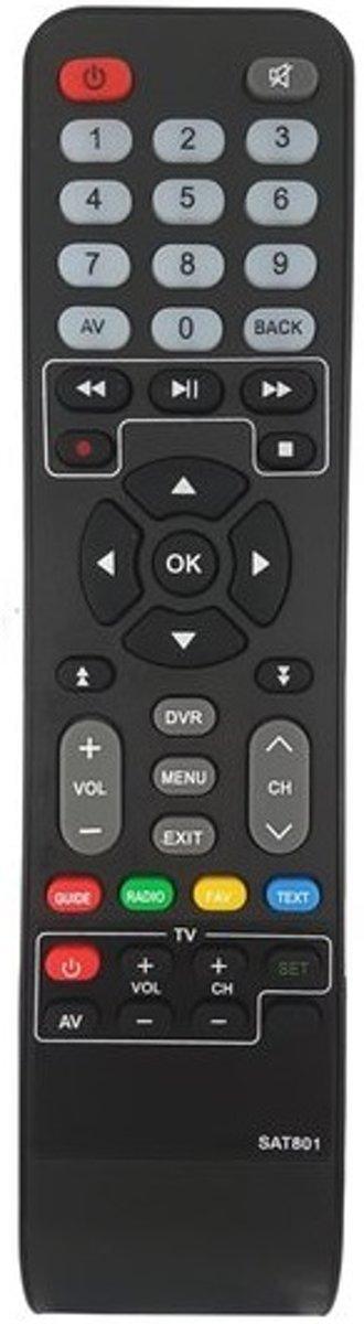 Afstandsbediening voor Philips DSR7141/ 7121 / 8121 / M7 SAT801 & DSR8141 Vervangende afstandbediening( Nieuw model )