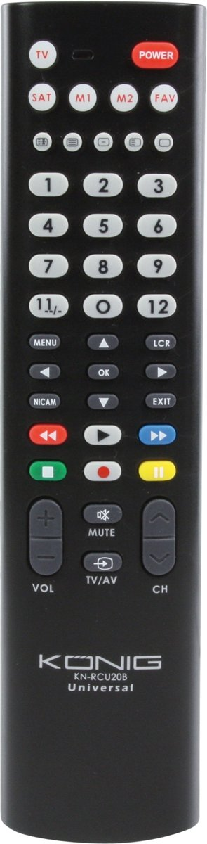 K?nig afstandsbedieningen Universal remote control for 2 devices