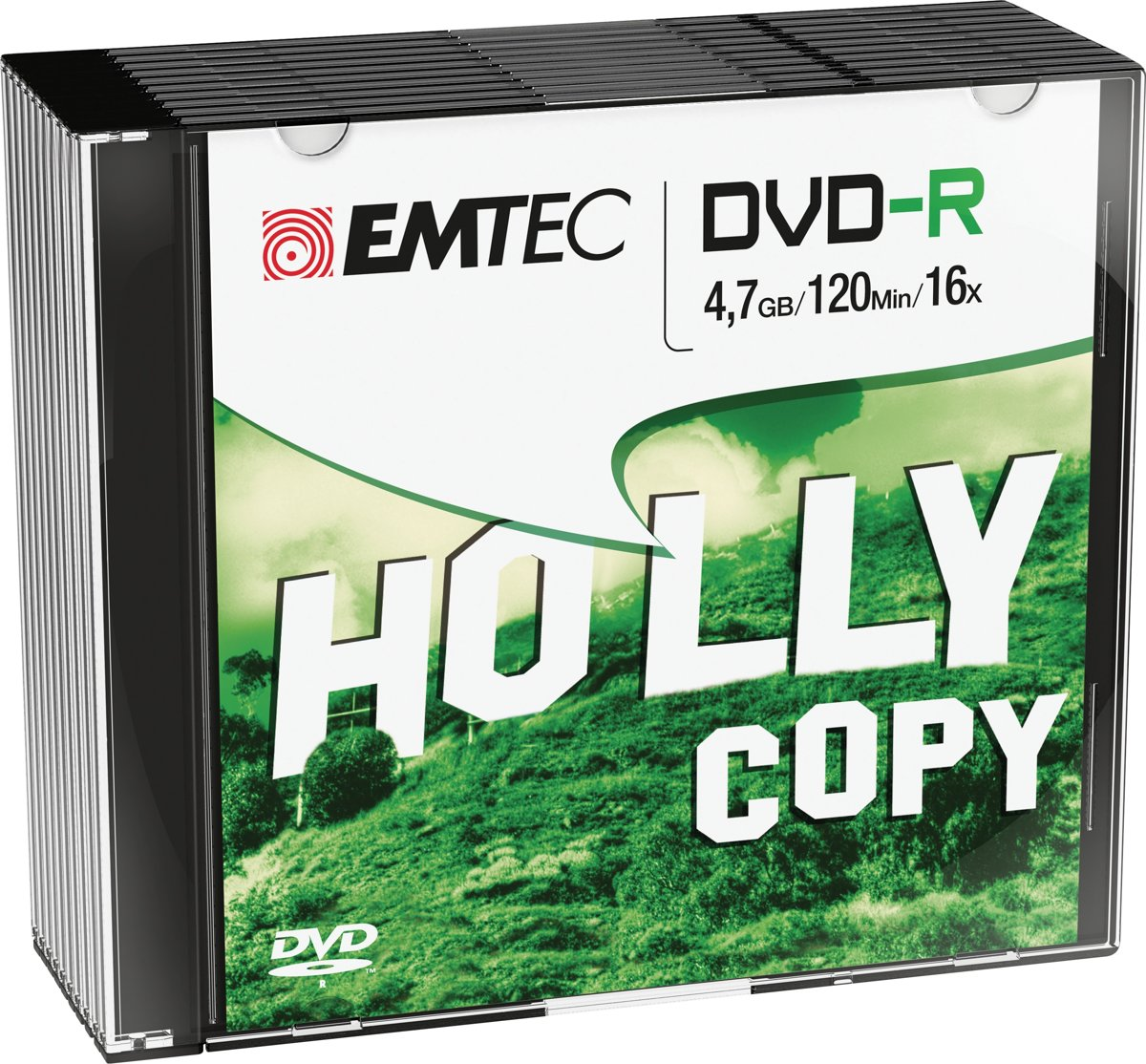 DVD-R Emtec 4,7GB  10pcs 16x Slim NEW PACKAGING