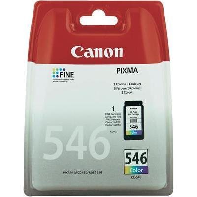 Canon CL-546 Cartridge Cyaan, Magenta, Geel