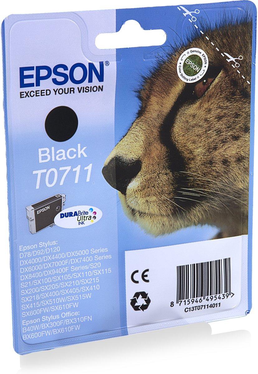 Epson T0711 zwart Cartridge