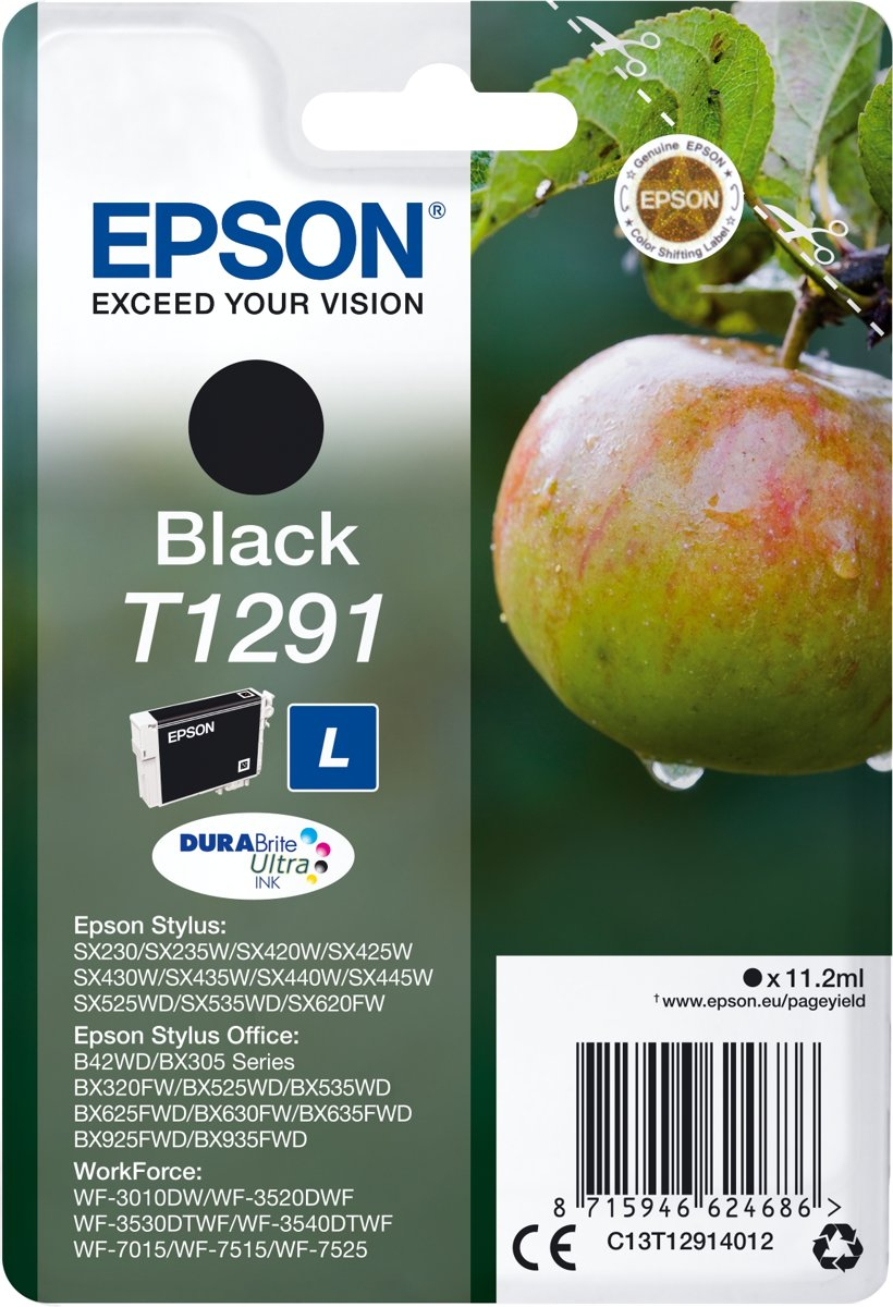 Epson T1291 zwart Cartridge