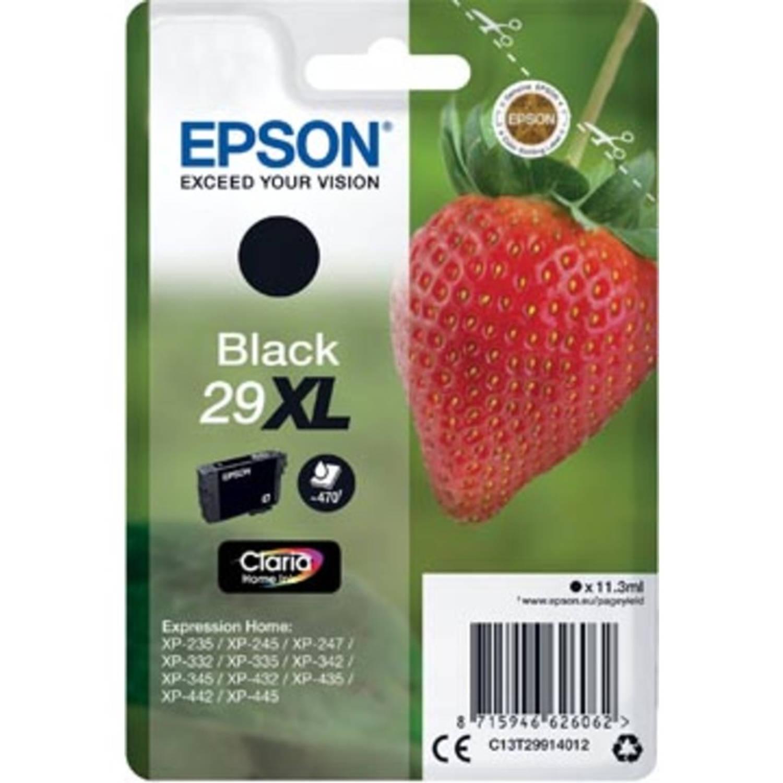 Epson inktcartridge 29XL zwart, 470 pagina's - OEM: C13T29914012