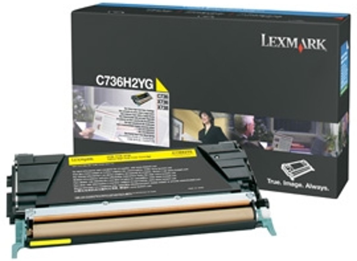 LEXMARK C736, X736, X738 tonercartridge geel high yield 10.000 pagina s 1-pack