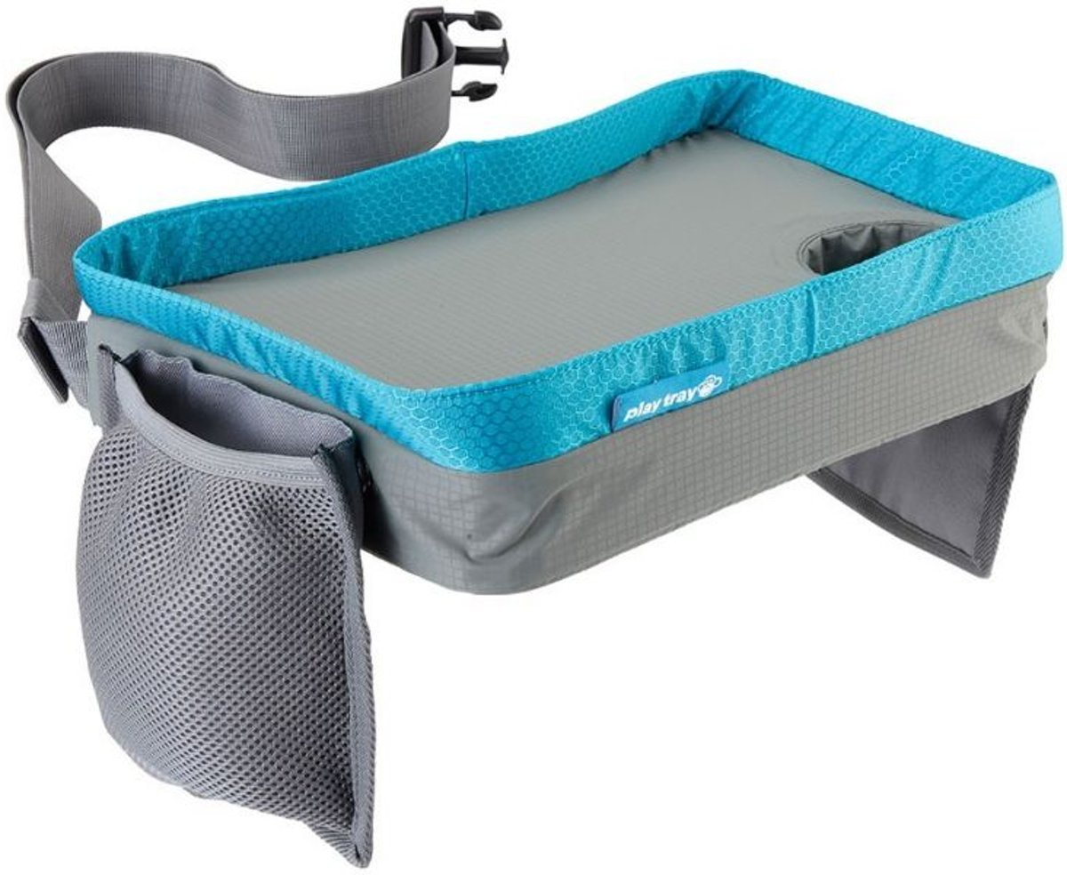 CabinMax Reistafel - Playtray voor Onderweg - Speeltafel voor Auto en Vliegtuig - Lichtblauw (play gy/be)