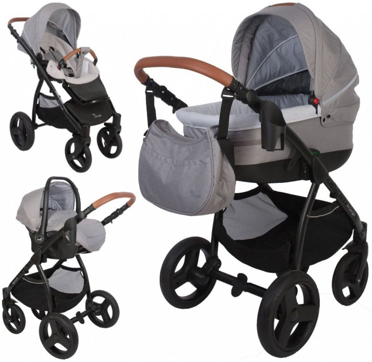 Bo Jungle B-Zen Stroller Grijs 5 in 1 Combi Kinderwagen (incl. autostoel)