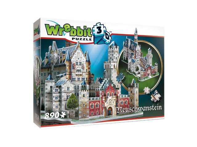 wrebbit Neuschwansten kasteel - 3D puzzel - 890 Stukjes
