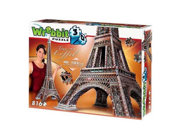 wrebbit Eiffeltoren - 3D puzzel - 816 Stukjes