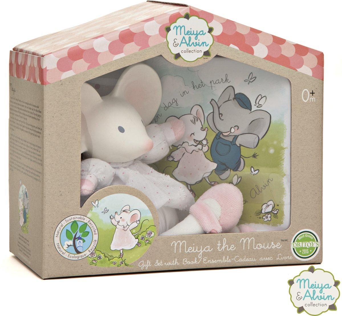 Meiya & Alvin cadeaubox Meiya de muis wit/roze