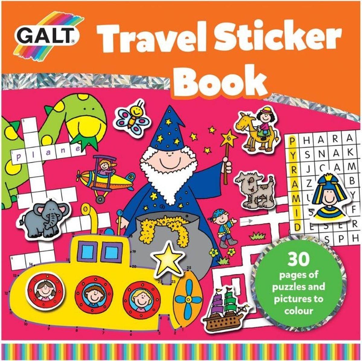 Galt reispuzzelboekje met stickers (en) 21 x 21 cm