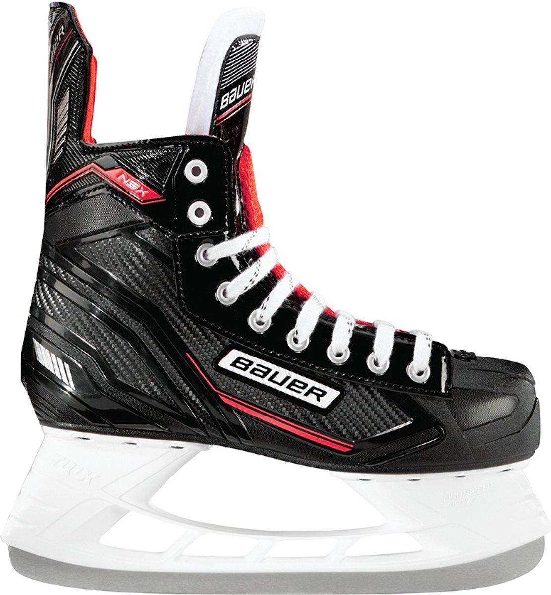 Bauer Ijshockeyschaatsen Nsx Skate Junior Zwart/rood Maat 33,5