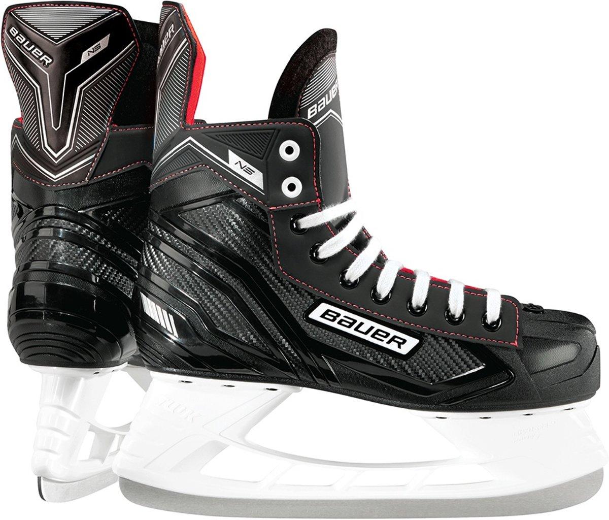 Bauer Ijshockeyschaatsen Ns Skate Junior Zwart/rood Maat 33,5