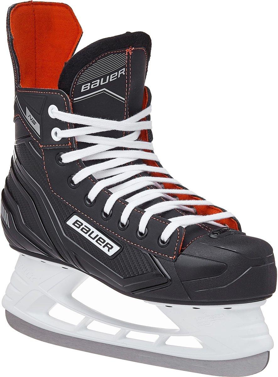 Bauer Ijshockeyschaatsen Ns Skate Zwart/rood Junior Maat 27