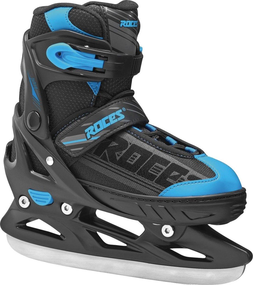 Roces ijshockeyschaatsen jokey jongens zwart/blauw maat 26-29