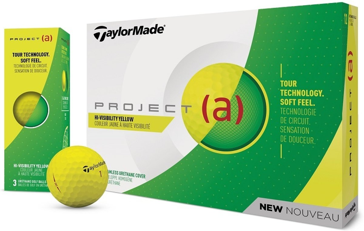 Taylormade Project (a) golfballen, dozijn, geel, 2019
