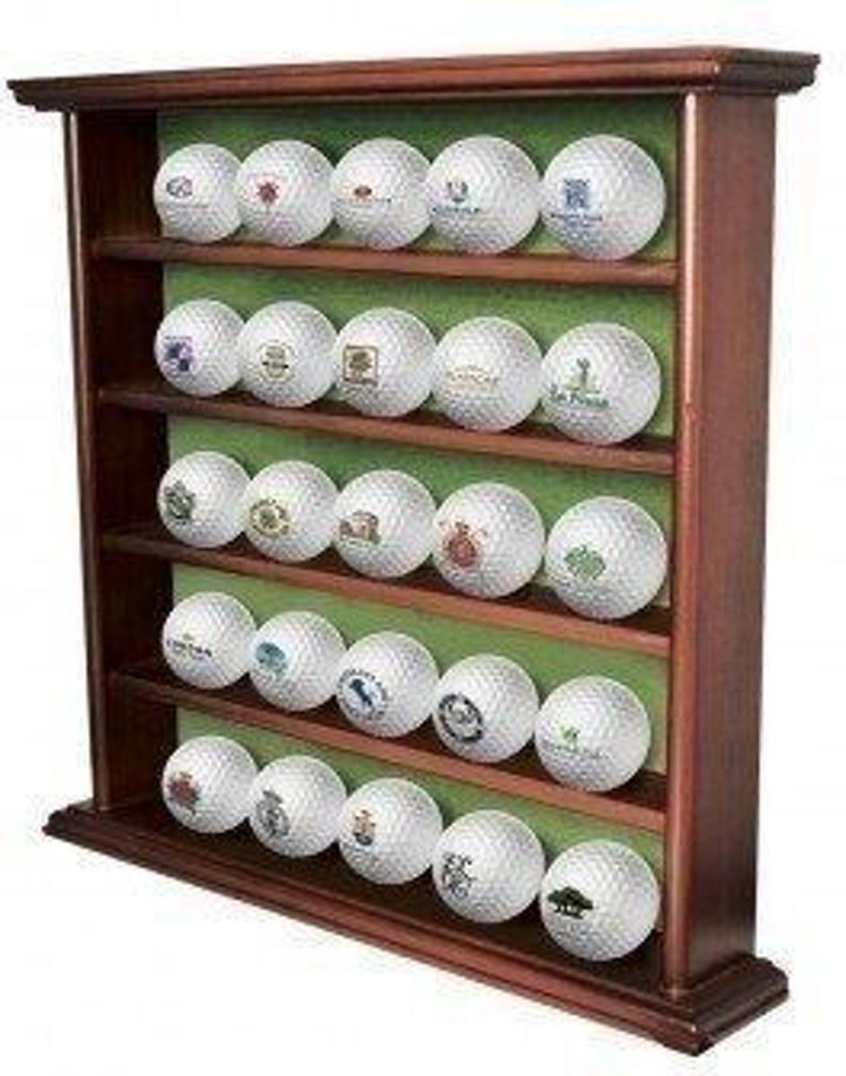 Golfballenkabinet 25  ballen