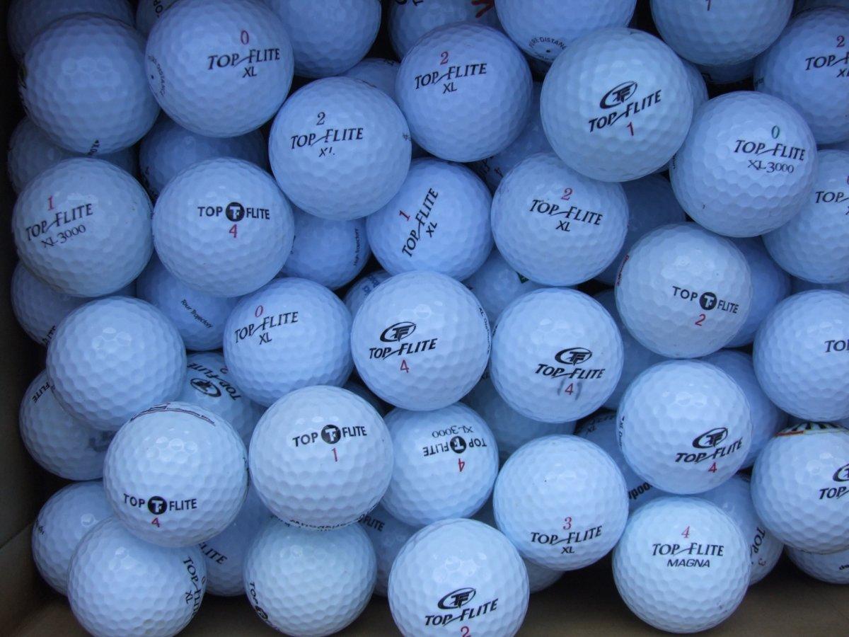 Golfballen gebruikt/lakeballs Topflite mix AAAA klasse 50 stuks.