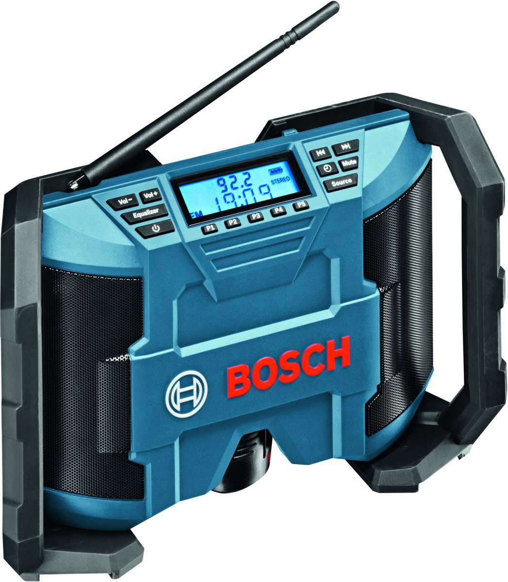 Bosch Professional GML 10,8 V-LI FM Bouwradio Blauw, Zwart