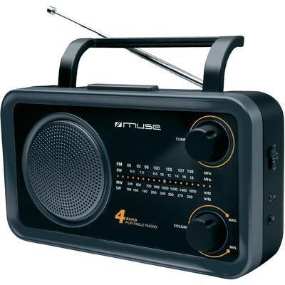 Muse M-05 DS draagbare radio zwart/grijs