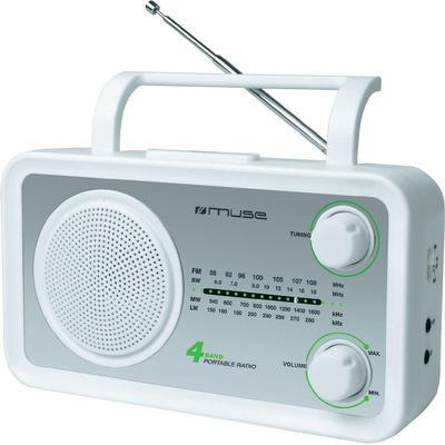 Muse M-05 SW FM, Middengolf, Langegolf, Kortegolf Transistorradio Zilver, Wit