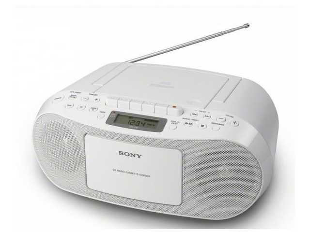 Sony CFD-S50W CD/Radiocassette Wit