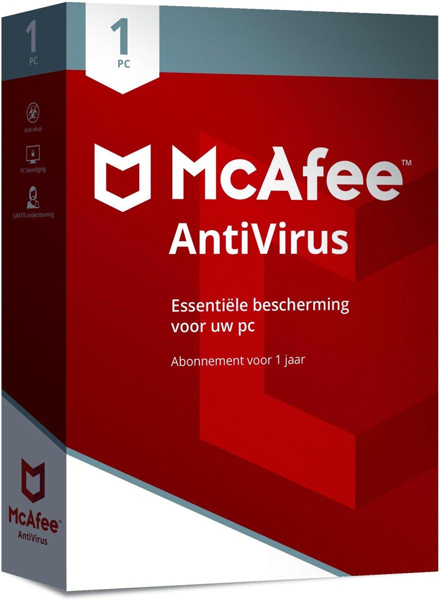 McAfee AntiVirus 2018 - 1 Apparaat - 1 jaar - Nederlands - Windows