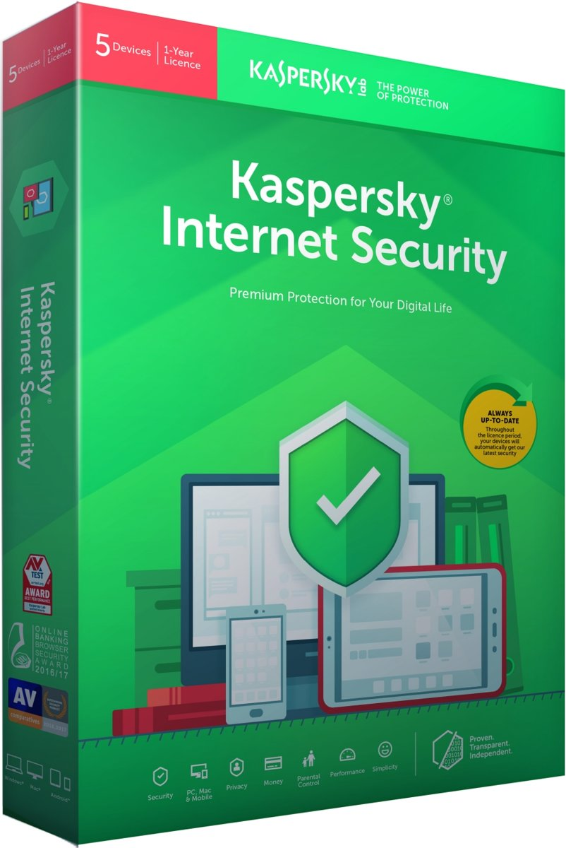 Kaspersky Internet Security - Multi-Device - 5 Apparaten - 1 Jaar - Nederlands / Frans - Windows / Mac Download