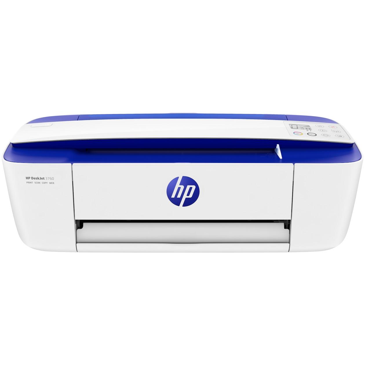 HP all-in-one inkjet printer DeskJet 3760 blauw