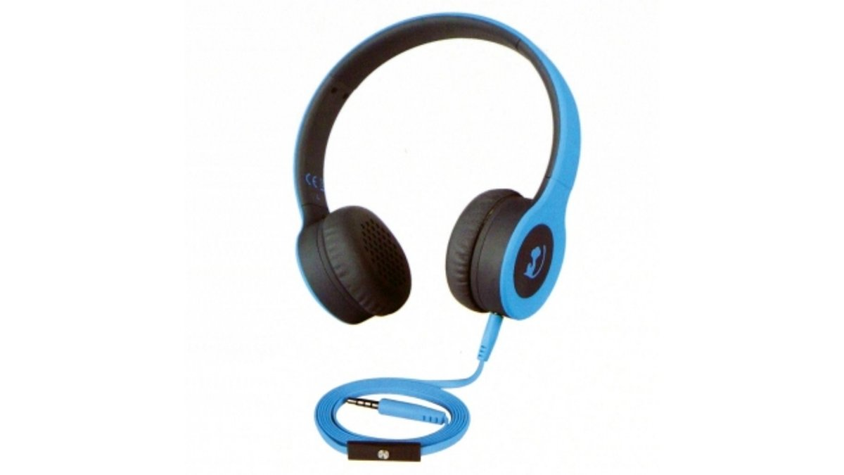 Wonky Monkey on-ear headset - blauw