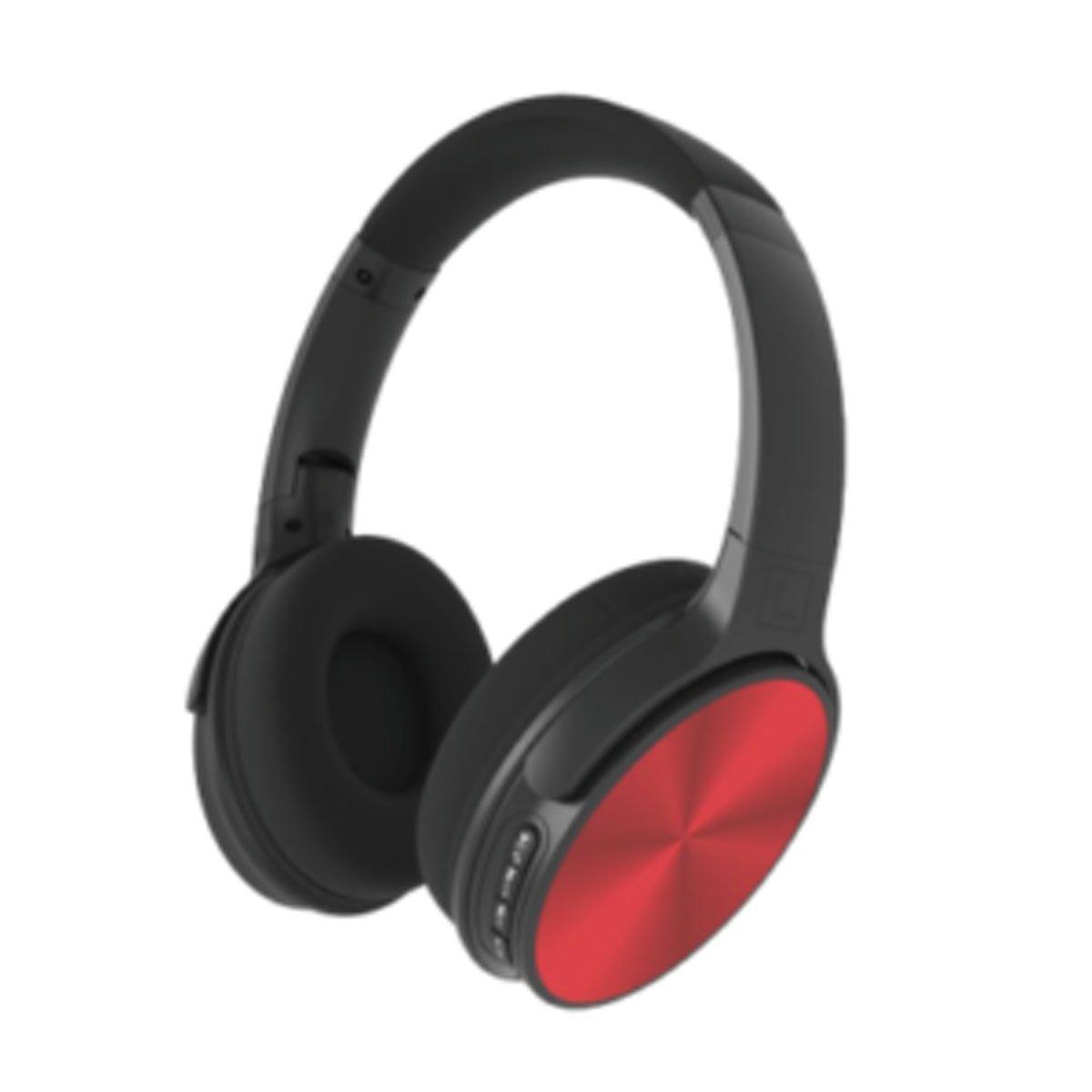 V-tac VT-6322 Bluetooth draadloze koptelefoon - draaibaar - rood