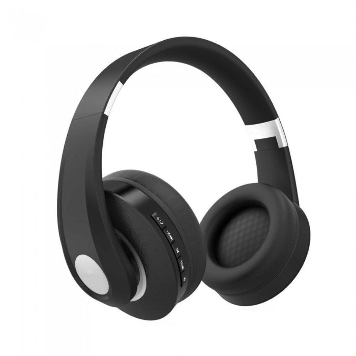 V-tac VT-6322 Bluetooth draadloze koptelefoon - verstelbaar - zwart