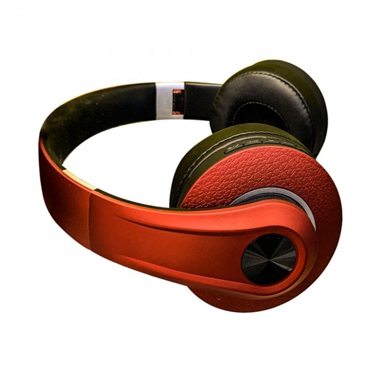 V-tac VT-6322 Bluetooth draadloze koptelefoon - verstelbaar - rood