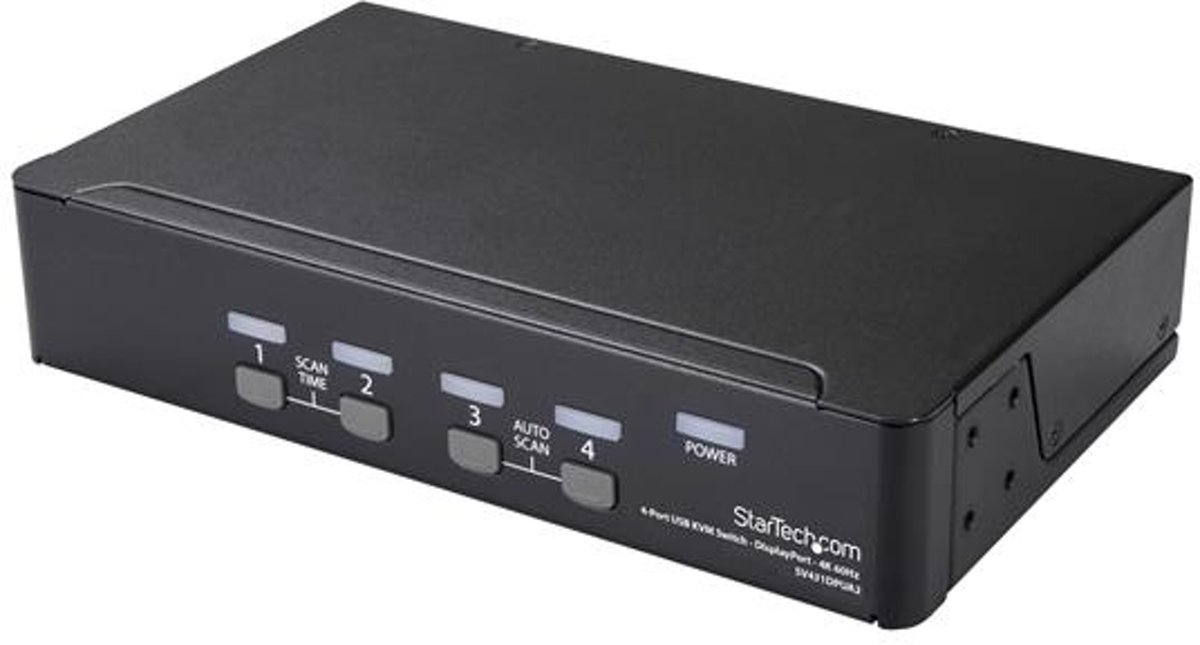 StarTech.com 4 poorts DisplayPort KVM switch met 4K 60Hz resolutie
