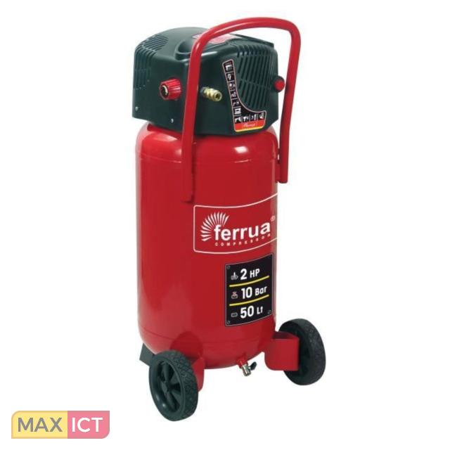 Ferrua FERRUA Verticale luchtcompressor 50 L zonder olie 2 HP 10 bar
