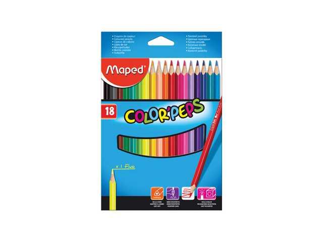 Kleurpotloden Colourpeps 18 Stuks