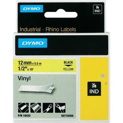 DYMO Rhino Labeltape Tapekleur: Geel Tekstkleur:Zwart