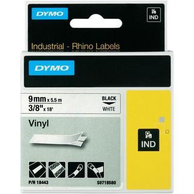 DYMO Rhino Labeltape Tapekleur: Wit Tekstkleur:Zwart