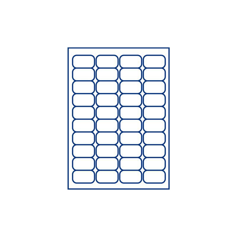 Etiket Avery J8654-25 45.7x25.4mm wit 1000stuks