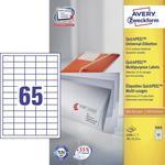 Avery-Zweckform Universal-Etiketten 3666 ( 38 mm x 21.2 mm ),Wit, 6500 stuks, Permanent hechtend